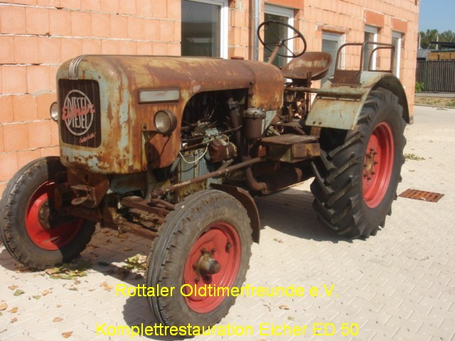 Restauration Eicher ED50